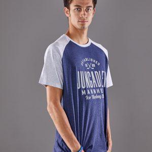 T-Shirt blau-grau