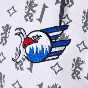 Sweatjacke Wappen blau/weiß/rot