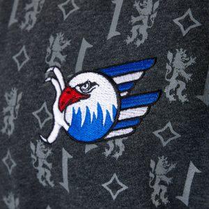 Sweatjacke Wappen grau