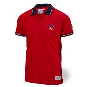 Polo-Shirt Hockeyspieler rot