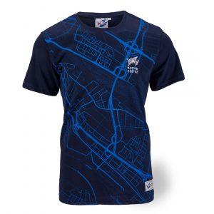 T-Shirt Map blau