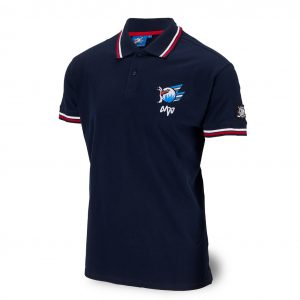Polo-Shirt Logo blau