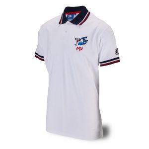 Polo-Shirt Logo weiß